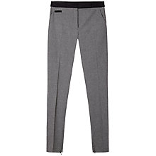 Buy Gérard Darel Plume Slim Zipped Trousers, Grey/Black Online at johnlewis.com