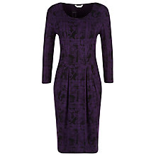 Buy Kaliko Check Lace Jacquard Dress, Dark Purple Online at johnlewis.com