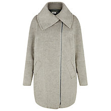 Buy Kaliko Shawl Collar Biker Coat, Mid Grey Online at johnlewis.com