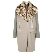 Buy Kaliko Colour Block Coat, Neutral Online at johnlewis.com