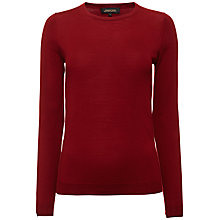 Buy Jaeger Gostwyck Wool Jumper, Winter Berry Online at johnlewis.com