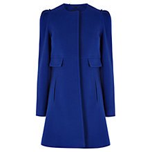 Buy Coast Petite Maddison Coat, Cobalt Blue Online at johnlewis.com