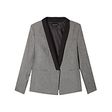 Buy Gérard Darel Vic Shawl Collared Jacket, Grey/Black Online at johnlewis.com