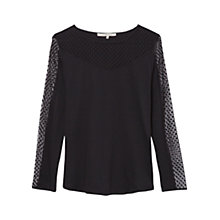 Buy Gérard Darel Tania Top, Black Online at johnlewis.com