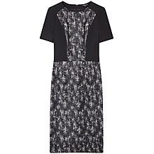 Buy Gérard Darel Structured Rebelle Dress, Black Online at johnlewis.com