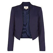 Buy Havren Collar Detail Jacket, Navy Online at johnlewis.com