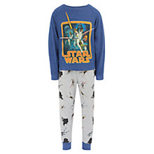Buy Star Wars Children's Pyjamas, Blue/Grey Online at johnlewis.com