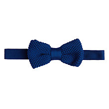 Buy John Lewis Knitted Bow Tie, Blue Online at johnlewis.com
