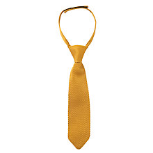 Buy John Lewis Boy Textured Tie, Mustard Online at johnlewis.com