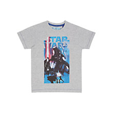 Buy Star Wars Darth Vader T-Shirt, Grey Online at johnlewis.com