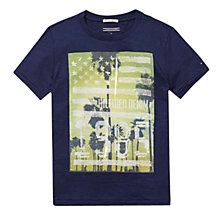 Buy Tommy Hilfiger Boy's Photo T-Shirt, Dark Blue Online at johnlewis.com