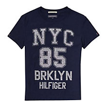 Buy Tommy Hilfiger Boys' Brooklyn T-Shirt, Navy Online at johnlewis.com