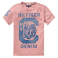 Buy Tommy Hilfiger Boy's NYC Tiger T-Shirt, Pink Online at johnlewis.com