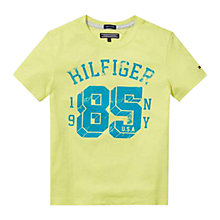 Buy Tommy Hilfiger Boys' University T-Shirt, Lime Online at johnlewis.com