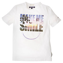 Buy Tommy Hilfiger Boys' Make Me Smile T-Shirt, White Online at johnlewis.com
