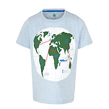Buy John Lewis Boy World Map Graphic T-Shirt, Blue Online at johnlewis.com