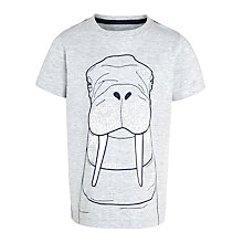 John Lewis Boy Walrus T-Shirt, Grey £11.00 - £13.00