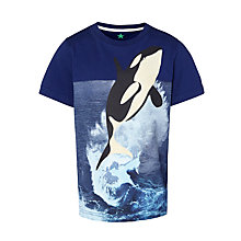 Buy John Lewis Boy Killer Whale T-Shirt, Navy Online at johnlewis.com