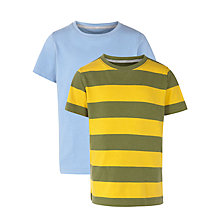 Buy John Lewis Boy Plain & Stripe T-Shirts, Pack of 2, Multi Online at johnlewis.com