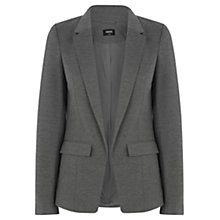 Buy Oasis Mid Grey Ponte Jacket, Mid Grey Online at johnlewis.com