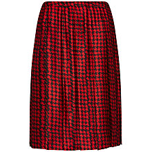 Buy Jaeger Blurred Dogtooth Skirt, Black / Red Online at johnlewis.com