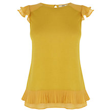 Buy Oasis Pleated Hem Shell Top, Ochre Online at johnlewis.com