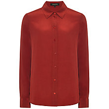 Buy Jaeger One Pocket Silk Blouse, Winter Berry Online at johnlewis.com