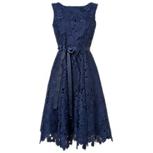 Buy Phase Eight Fabia Embroidered Fit And Flare Dress, Blue Online at johnlewis.com
