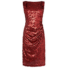 Buy Phase Eight Angele Sequin Dress, Scarlet Online at johnlewis.com