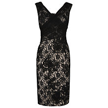 Buy Phase Eight Gloria Embroidered Dress, Black/Neutral Online at johnlewis.com