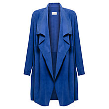 Buy East Suede Waterfall Coat, Iris Online at johnlewis.com