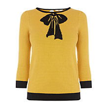 Buy Oasis Intarsia Jumper,  Ochre Online at johnlewis.com