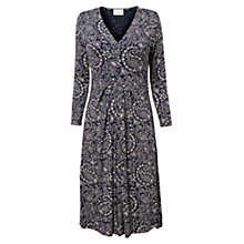 Buy East Fern Paisley Jersey Dress, Navy Online at johnlewis.com