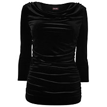 Buy Phase Eight Tallie Velvet Cowl Top, Black Online at johnlewis.com