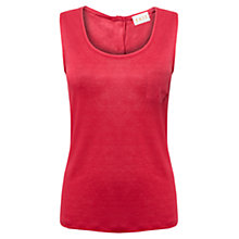 Buy East Linen Button Back Top Online at johnlewis.com