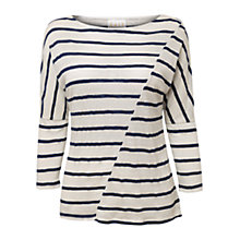 Buy East Stripe Linen Top, Navy Online at johnlewis.com