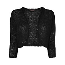 Buy Phase Eight Sarina Sequin Shrug, Black Online at johnlewis.com