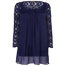 Buy Phase Eight Avril Silk And Lace Blouse, Midnight Online at johnlewis.com