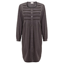 Buy East Embroidered Babycord Dress, Ash Online at johnlewis.com