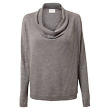 Buy East Cowl Neck Merino Wool Jumper, Smoke Online at johnlewis.com
