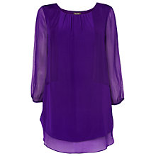 Buy Phase Eight Berenice Silk Blouse, Violet Online at johnlewis.com