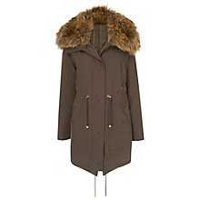 Buy Phase Eight Faye Faux Fur Parka Coat, Mink Online at johnlewis.com