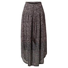 Buy East Fara Ombre Georgette Skirt, Slate Online at johnlewis.com