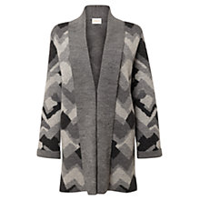 Buy East Zig Zag Jacquard Wool Cardigan, Ash Online at johnlewis.com