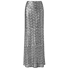 Buy Phase Eight Shimmer Sequin Maxi Skirt, Silver Online at johnlewis.com