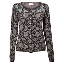 Buy East Fara Print Cardigan, Slate Online at johnlewis.com
