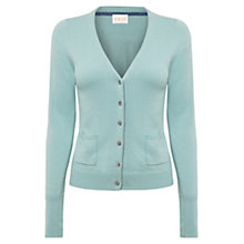 Buy East V-Neck Button Cardigan, Frost Online at johnlewis.com