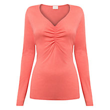 Buy East Ruch Front Jersey Top, Blush Online at johnlewis.com