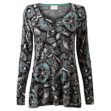 Buy East Ray Print Jumper, Slate Online at johnlewis.com