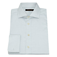 Buy Jaeger Mini Windowpane Shirt, White/Blue Online at johnlewis.com
